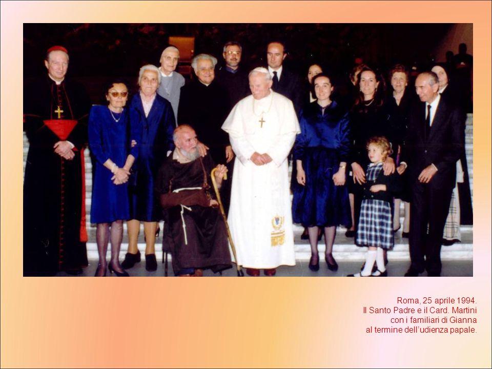 Roma, 25 aprile 1994. Il Santo Padre e il Card