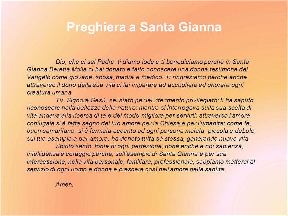 Preghiera a Santa Gianna