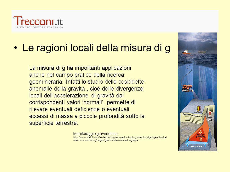 Le ragioni locali della misura di g