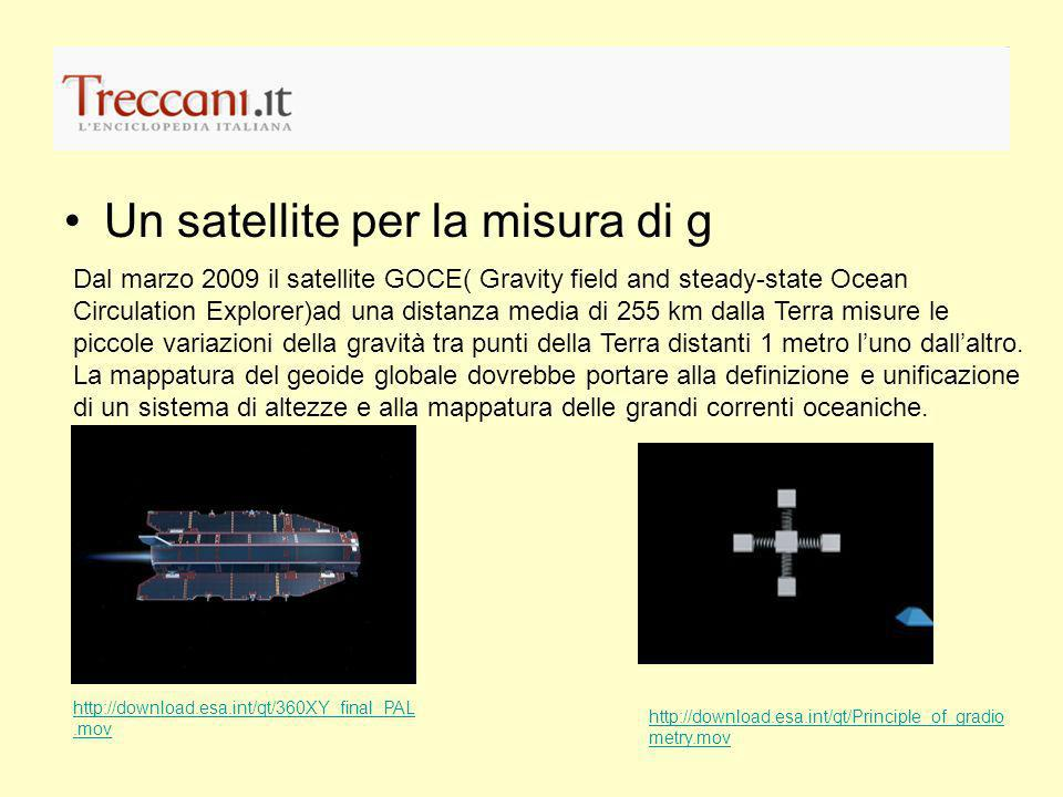 Un satellite per la misura di g