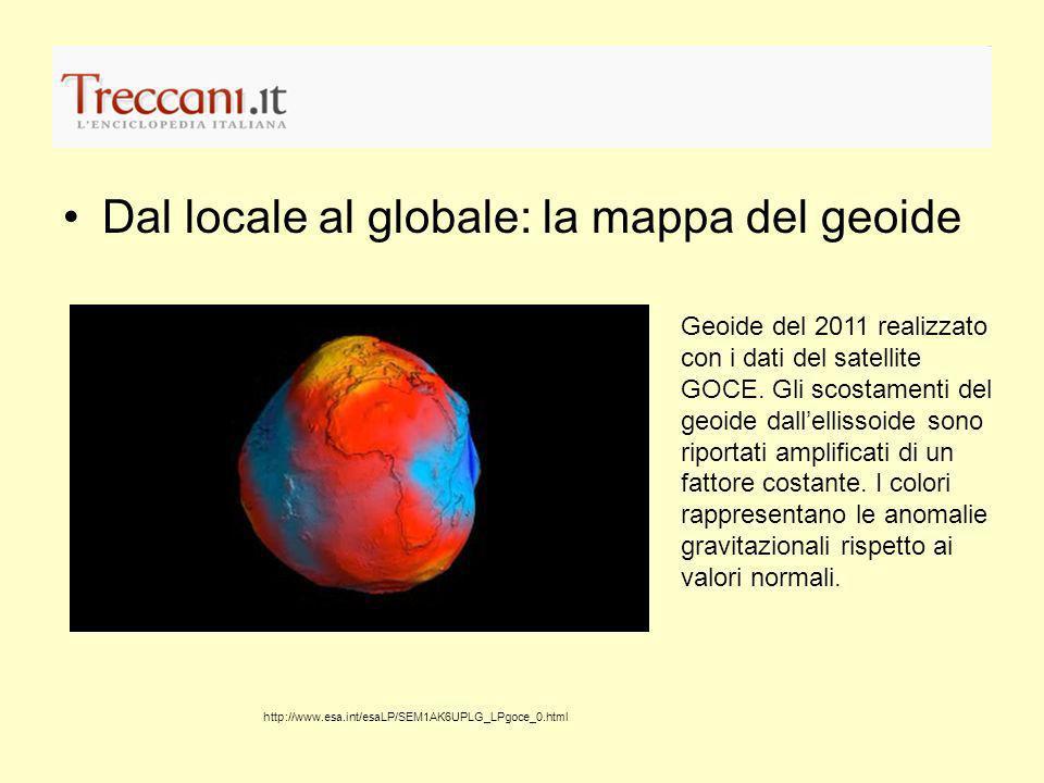 Dal locale al globale: la mappa del geoide
