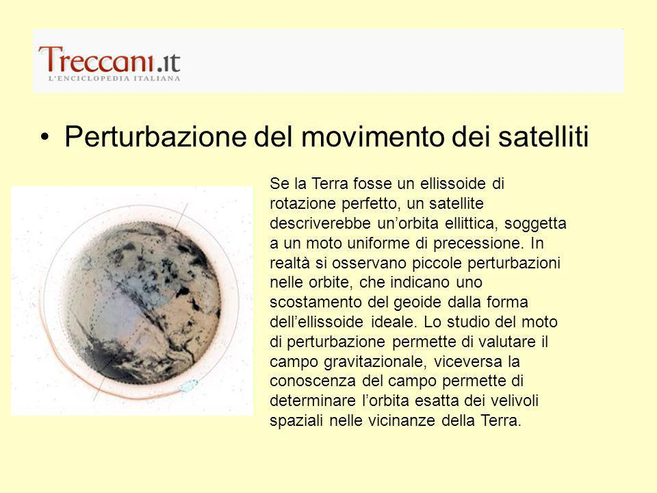 Perturbazione del movimento dei satelliti