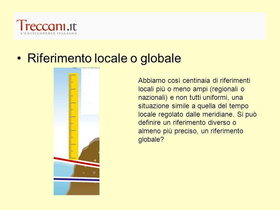 Riferimento locale o globale
