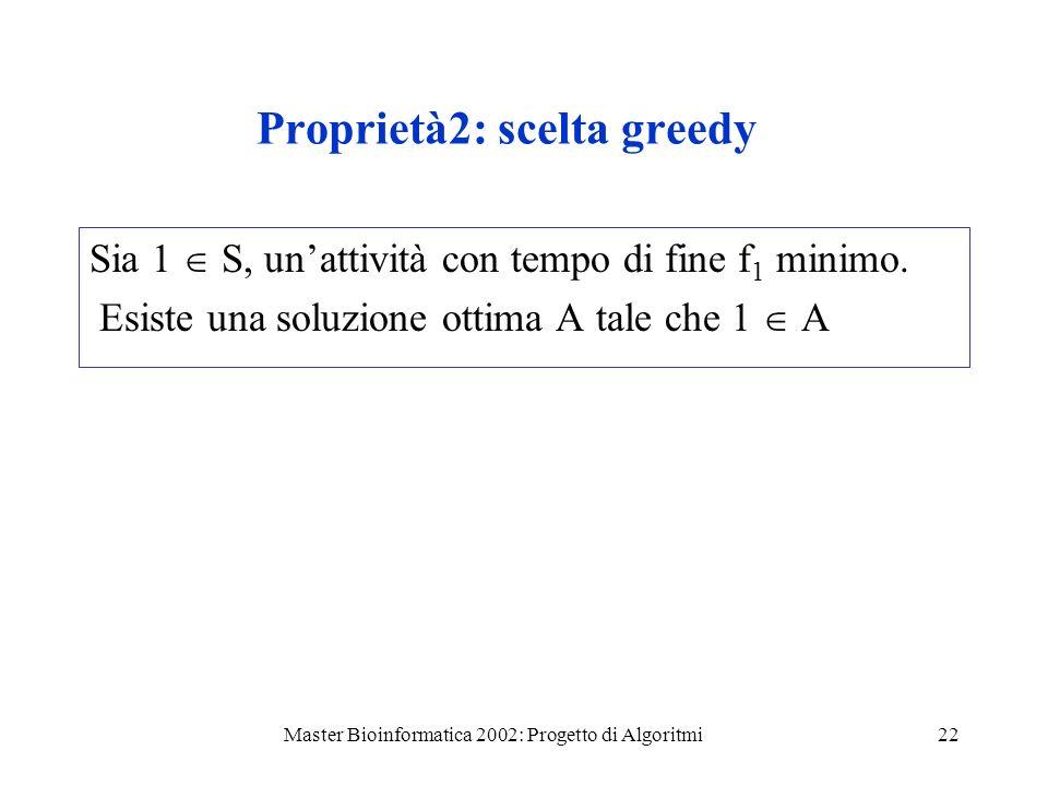 Proprietà2: scelta greedy