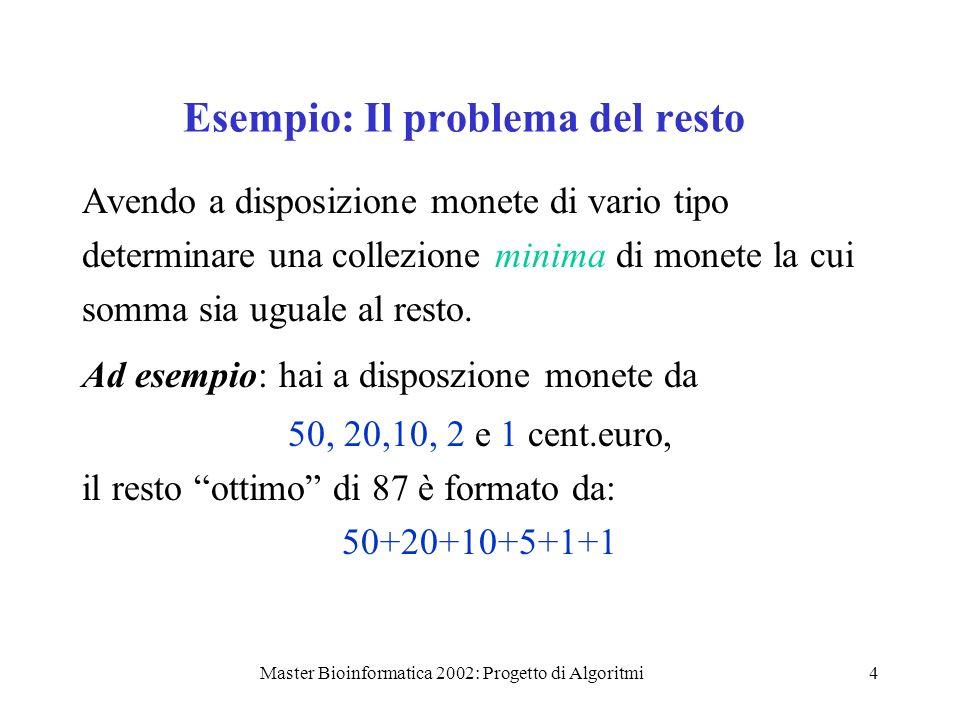 Esempio: Il problema del resto