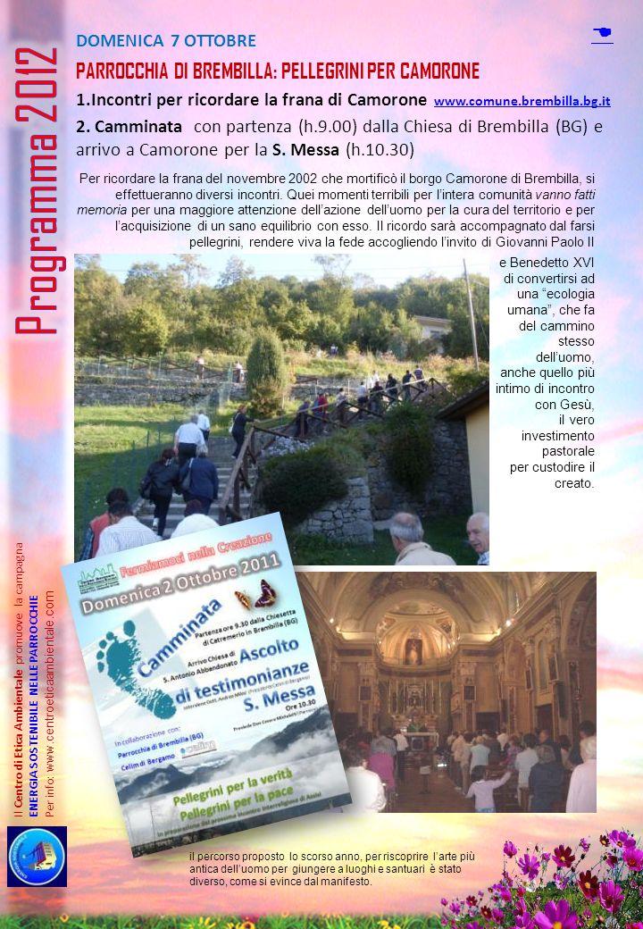 Programma 2012 D Parrocchia di brembilla: Pellegrini per camorone