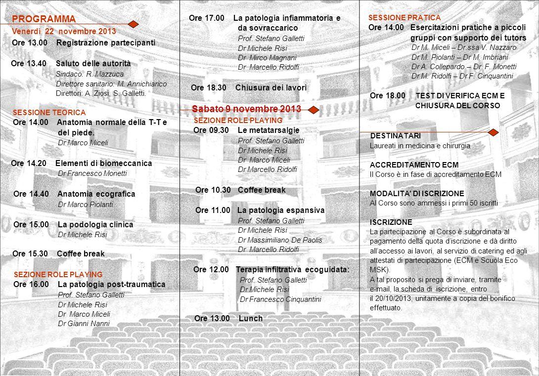 Ore 13.00 Registrazione partecipanti