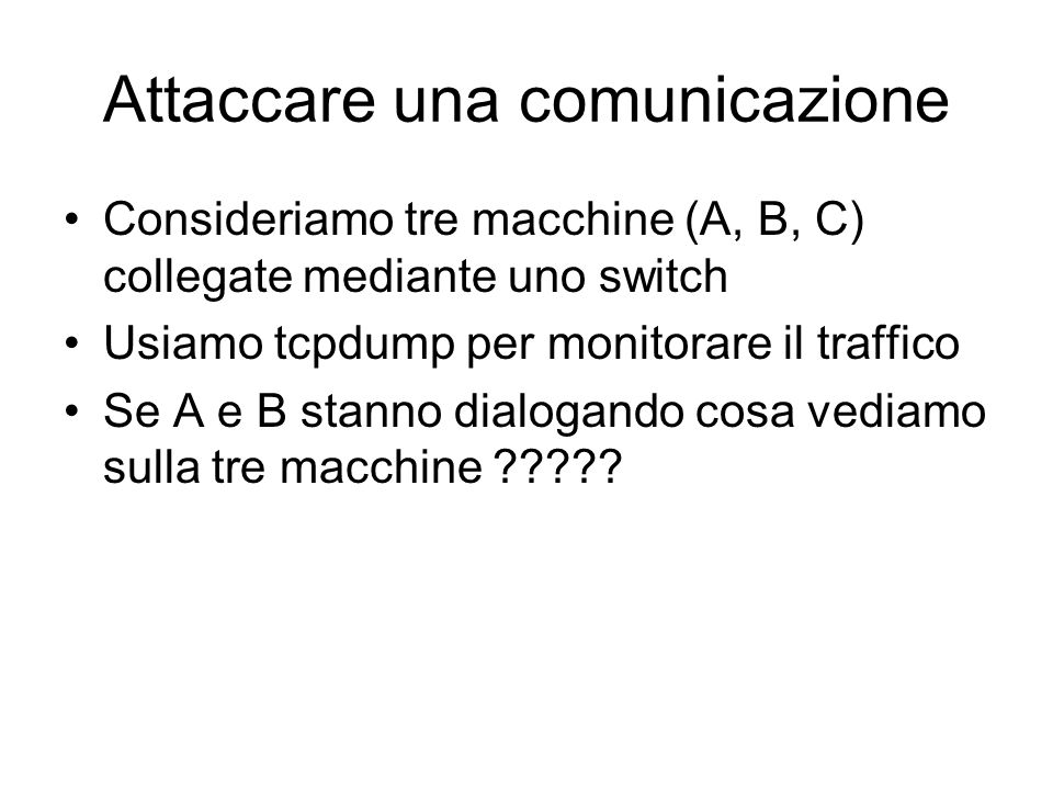 Attaccare una comunicazione