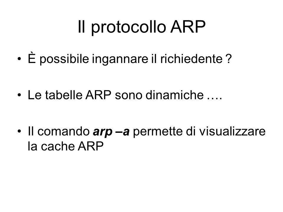 Il protocollo ARP È possibile ingannare il richiedente