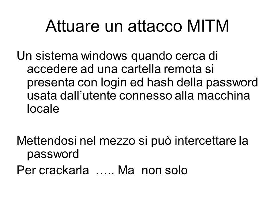 Attuare un attacco MITM