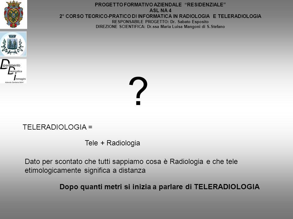TELERADIOLOGIA = Tele + Radiologia