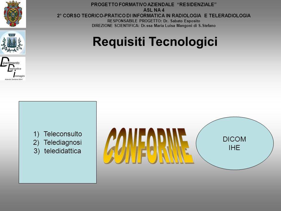 CONFORME Requisiti Tecnologici Teleconsulto Telediagnosi teledidattica