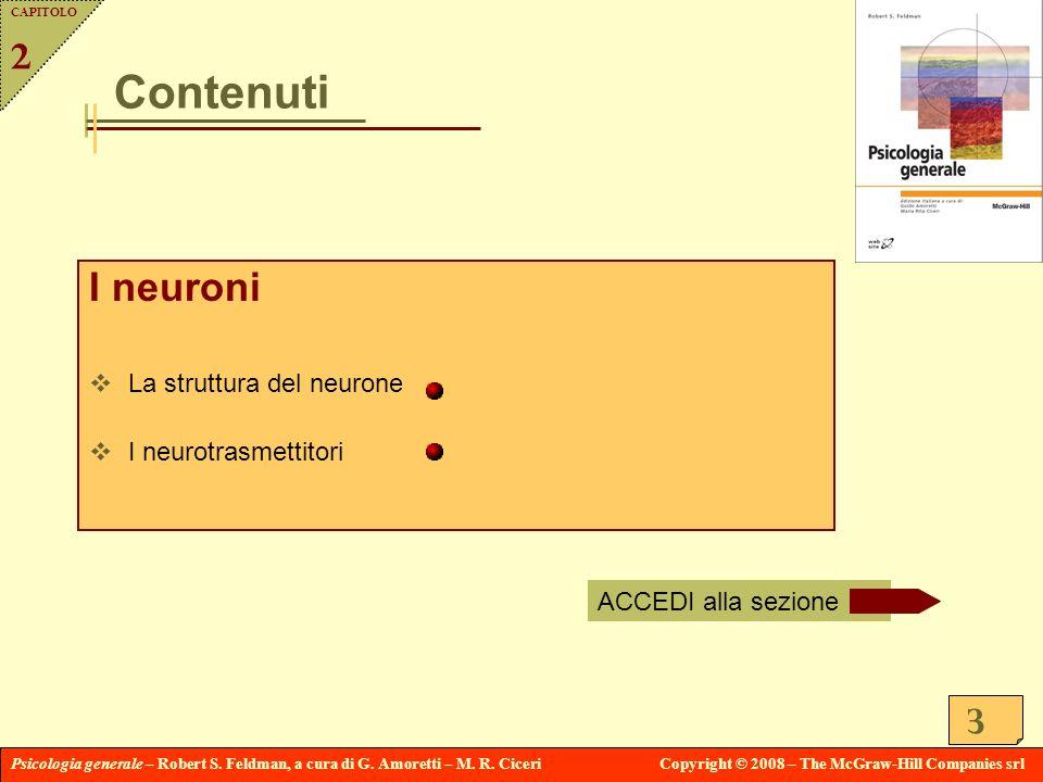 Contenuti I neuroni 2 La struttura del neurone I neurotrasmettitori