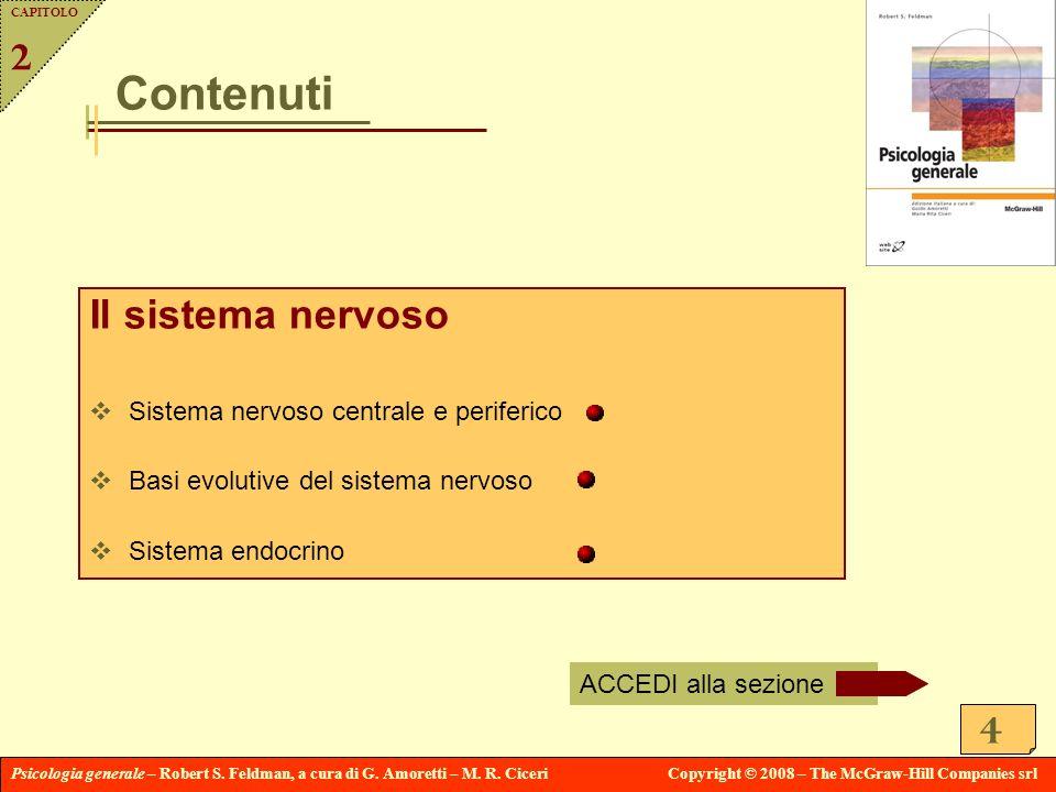 Contenuti Il sistema nervoso 2 Sistema nervoso centrale e periferico