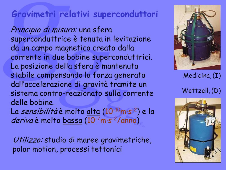 Gravimetri relativi superconduttori
