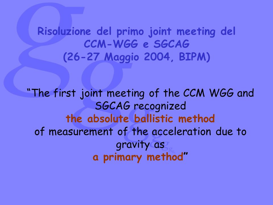 The first joint meeting of the CCM WGG and SGCAG recognized