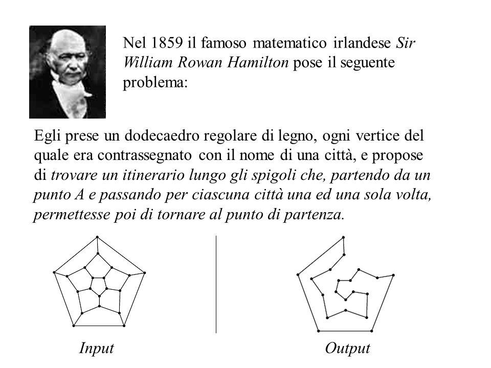 Nel 1859 il famoso matematico irlandese Sir William Rowan Hamilton pose il seguente problema: