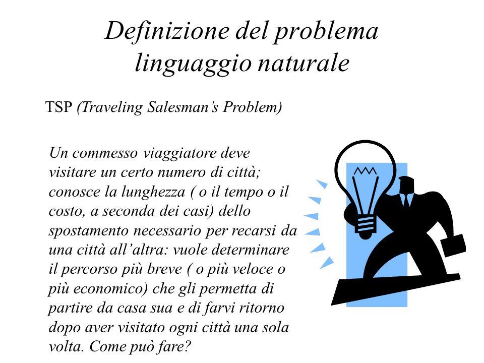 Definizione del problema linguaggio naturale