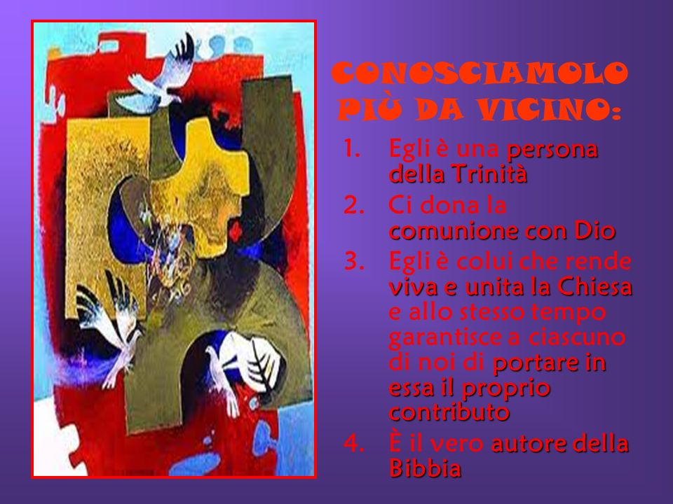 CONOSCIAMOLO PIÙ DA VICINO:
