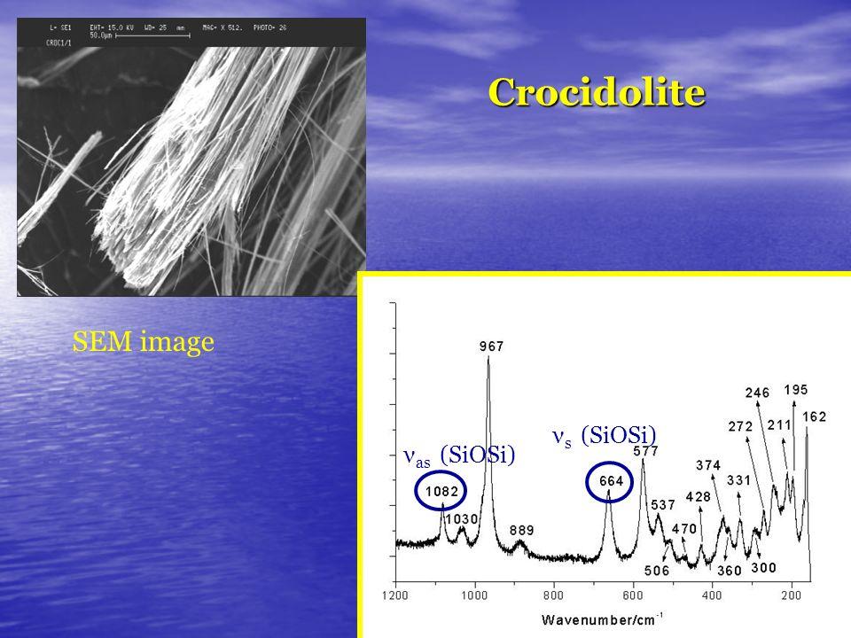 Crocidolite νs (SiOSi) νas (SiOSi) SEM image