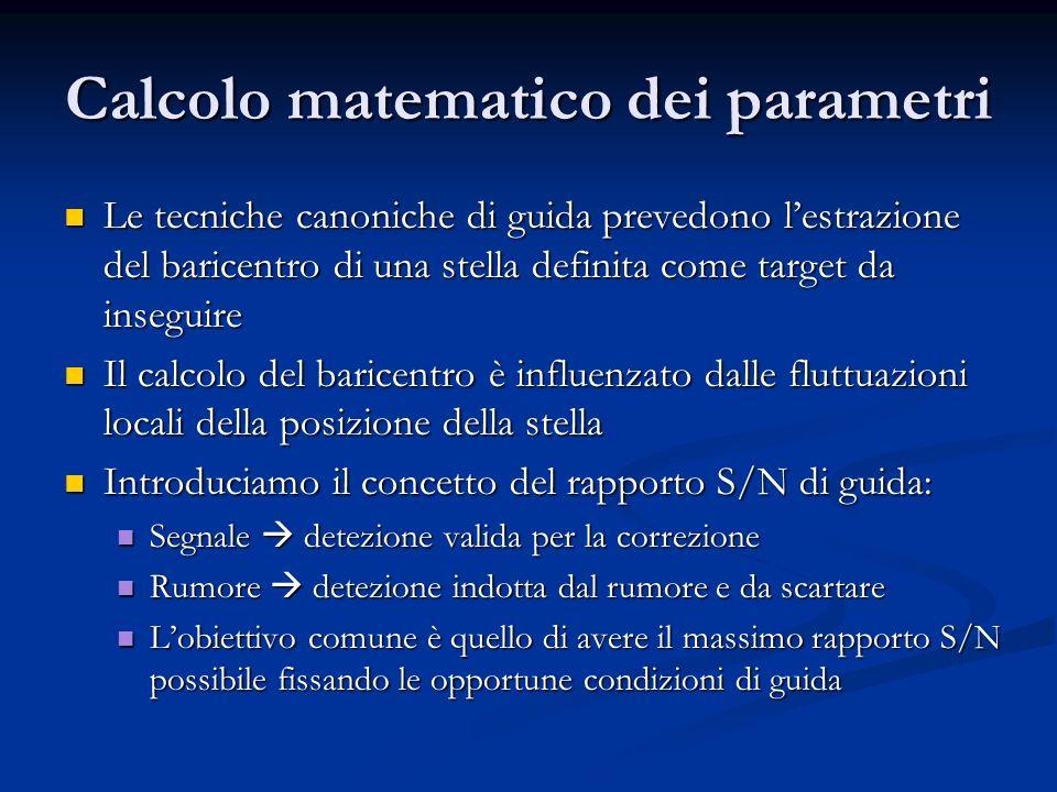 Calcolo matematico dei parametri