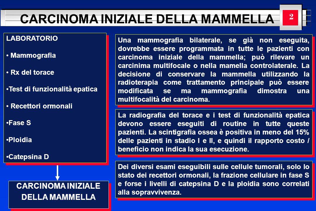 CARCINOMA INIZIALE DELLA MAMMELLA