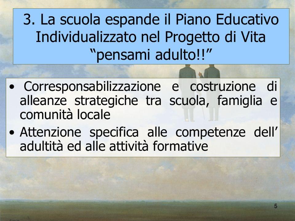 3. La scuola espande il Piano Educativo Individualizzato nel Progetto di Vita pensami adulto!!