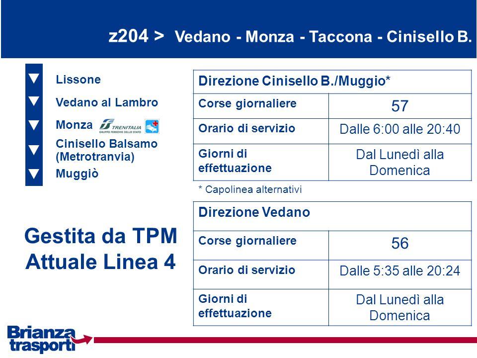Gestita da TPM Attuale Linea 4