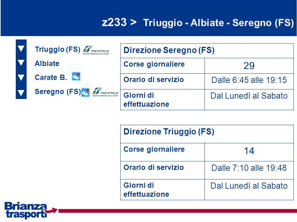 z233 > Triuggio - Albiate - Seregno (FS)