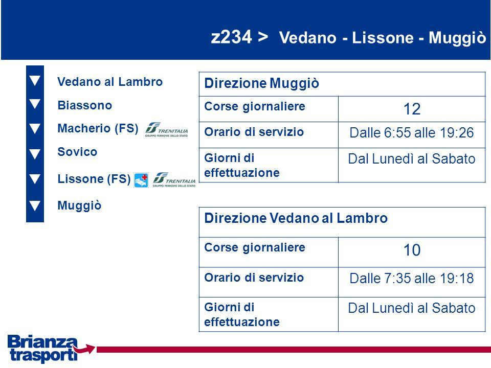z234 > Vedano - Lissone - Muggiò
