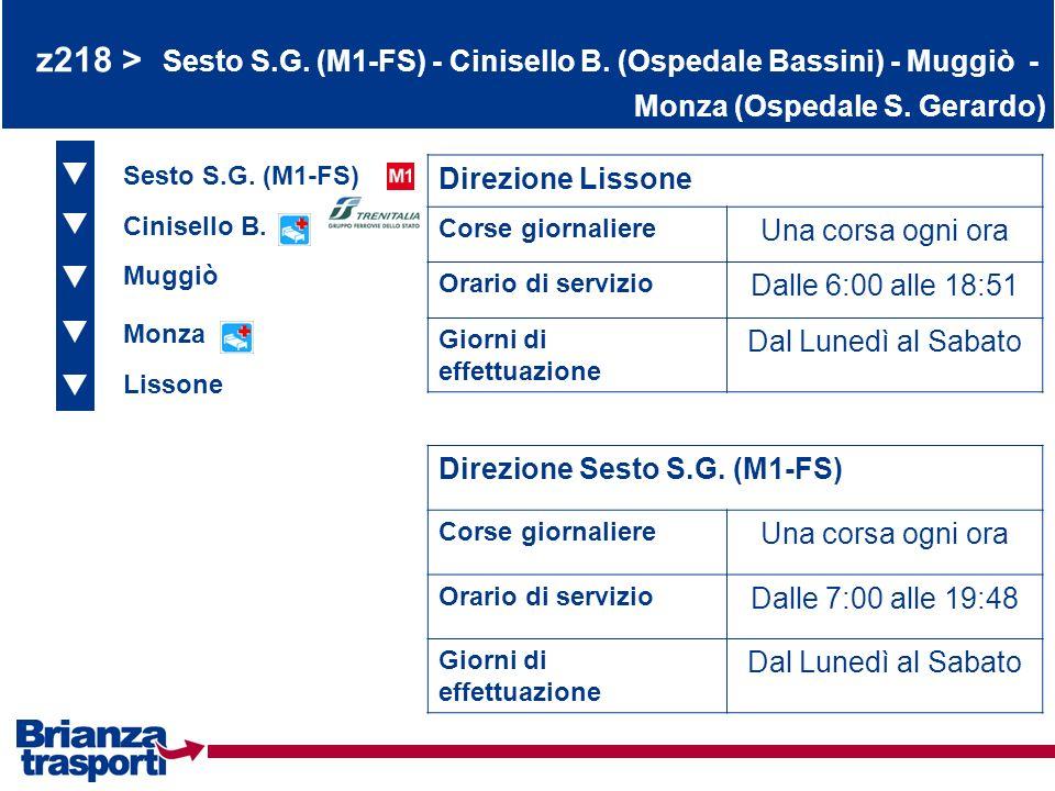 z218 > Sesto S. G. (M1-FS) - Cinisello B