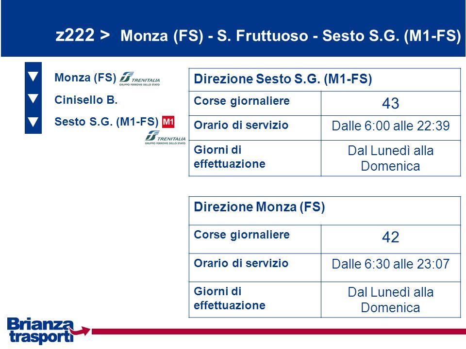 z222 > Monza (FS) - S. Fruttuoso - Sesto S.G. (M1-FS)