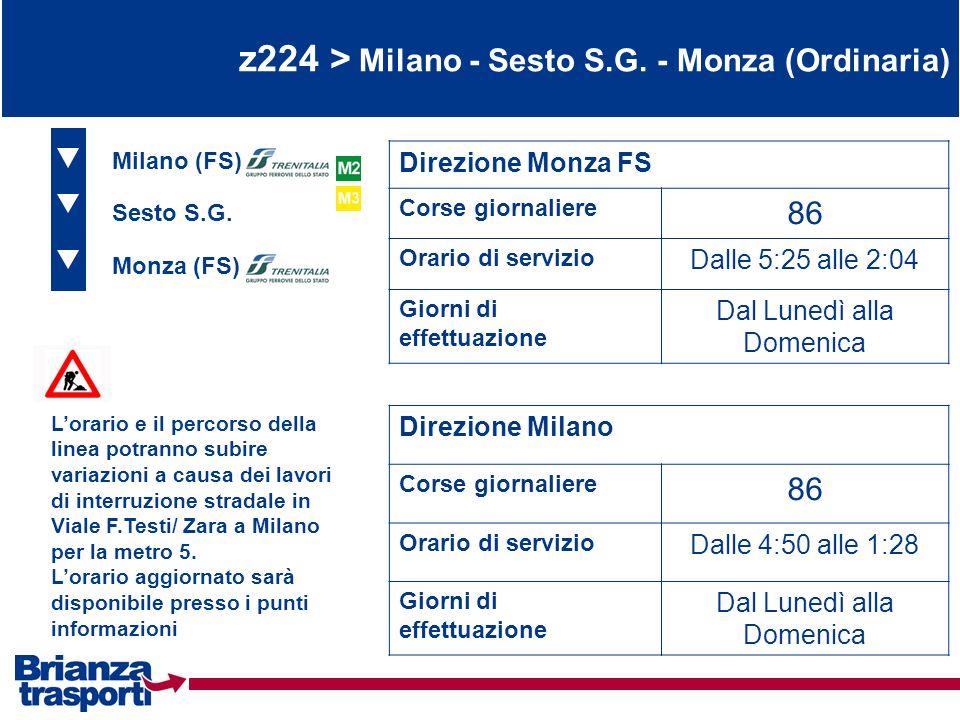 z224 > Milano - Sesto S.G. - Monza (Ordinaria)