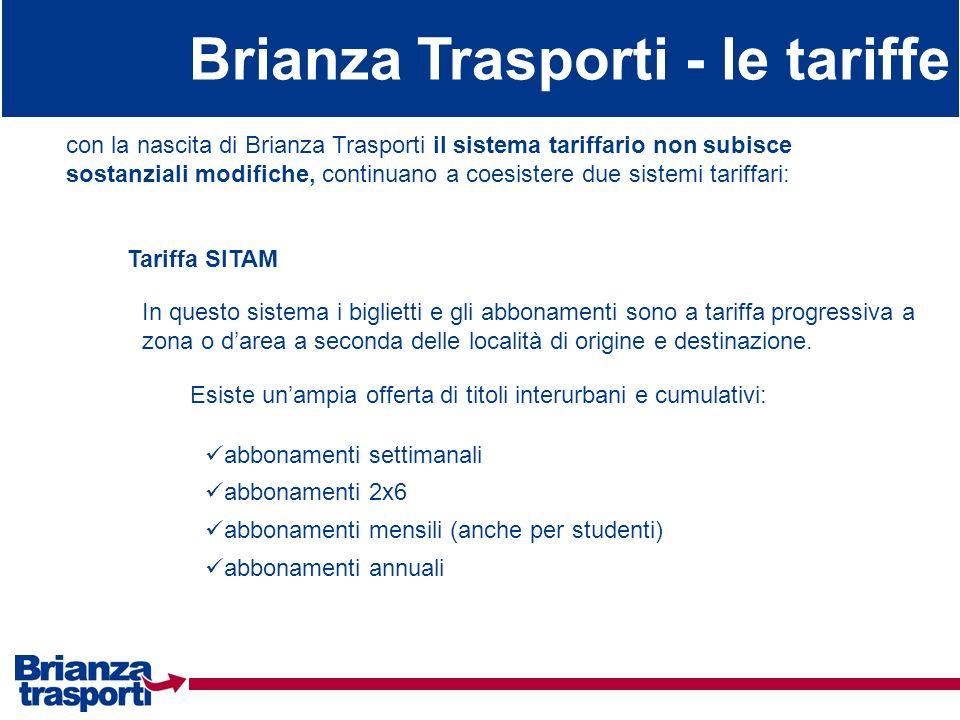 Brianza Trasporti - le tariffe