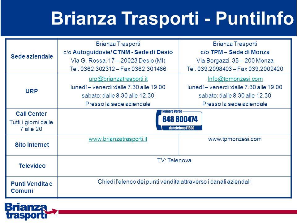 Brianza Trasporti - PuntiInfo