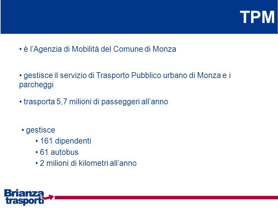 TPM è l'Agenzia di Mobilità del Comune di Monza
