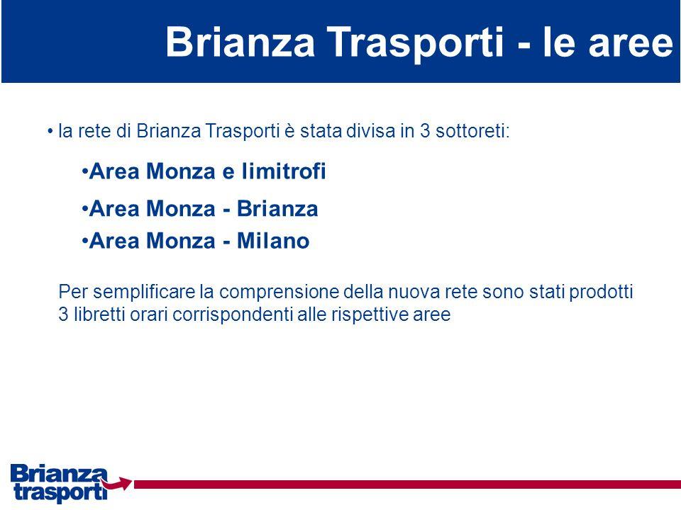Brianza Trasporti - le aree