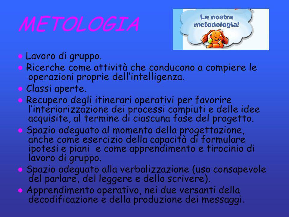 METOLOGIA ● Lavoro di gruppo.