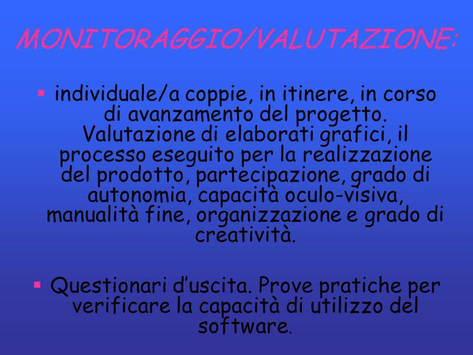 MONITORAGGIO/VALUTAZIONE: