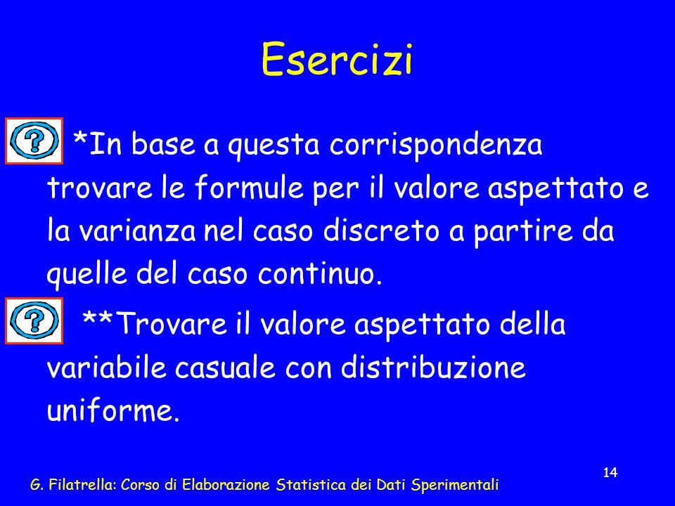 G. Filatrella: Corso di Elaborazione Statistica dei Dati Sperimentali