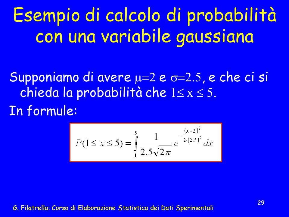 Esempio di calcolo di probabilità con una variabile gaussiana