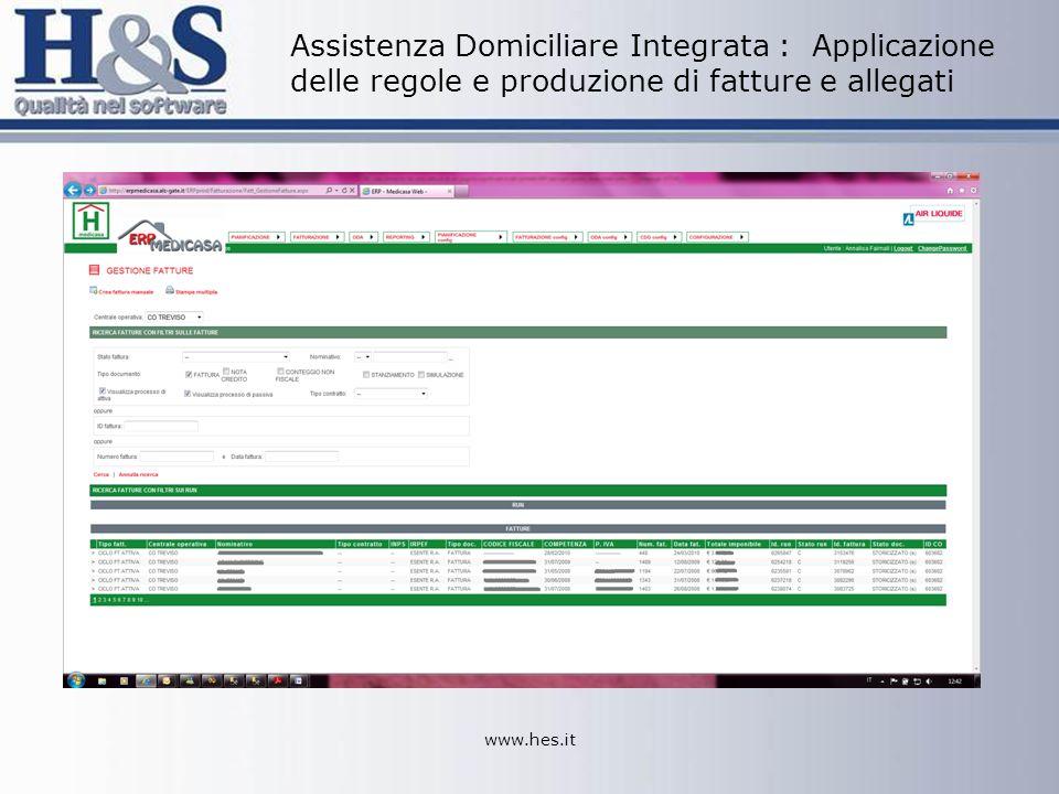 Assistenza Domiciliare Integrata : Applicazione delle regole e produzione di fatture e allegati