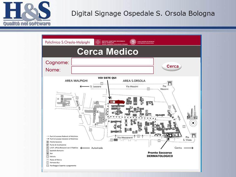 Digital Signage Ospedale S. Orsola Bologna