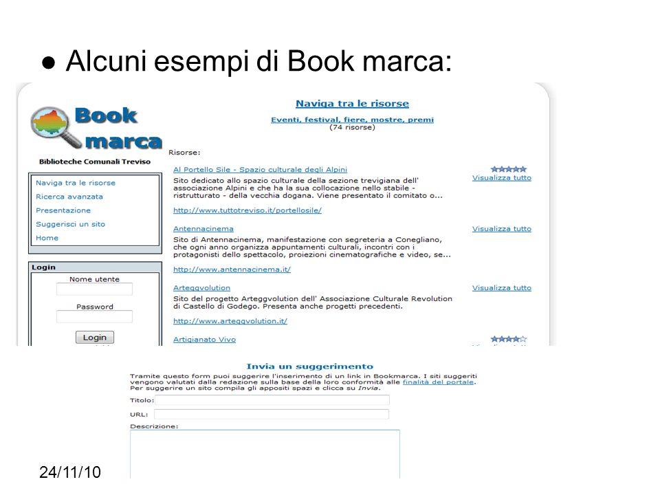● Alcuni esempi di Book marca: