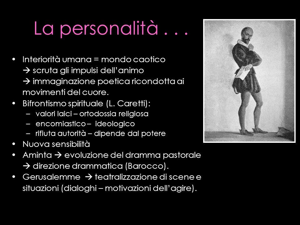 La personalità . . . Interiorità umana = mondo caotico