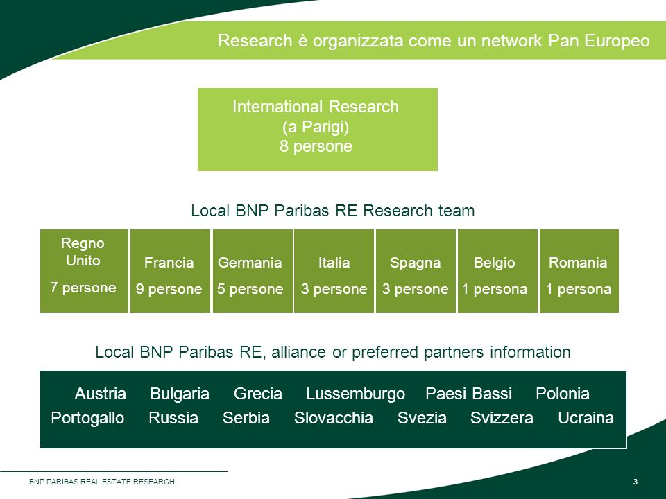 Research è organizzata come un network Pan Europeo