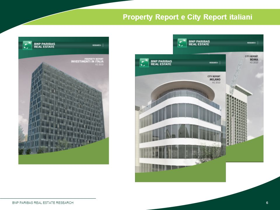 Property Report e City Report italiani