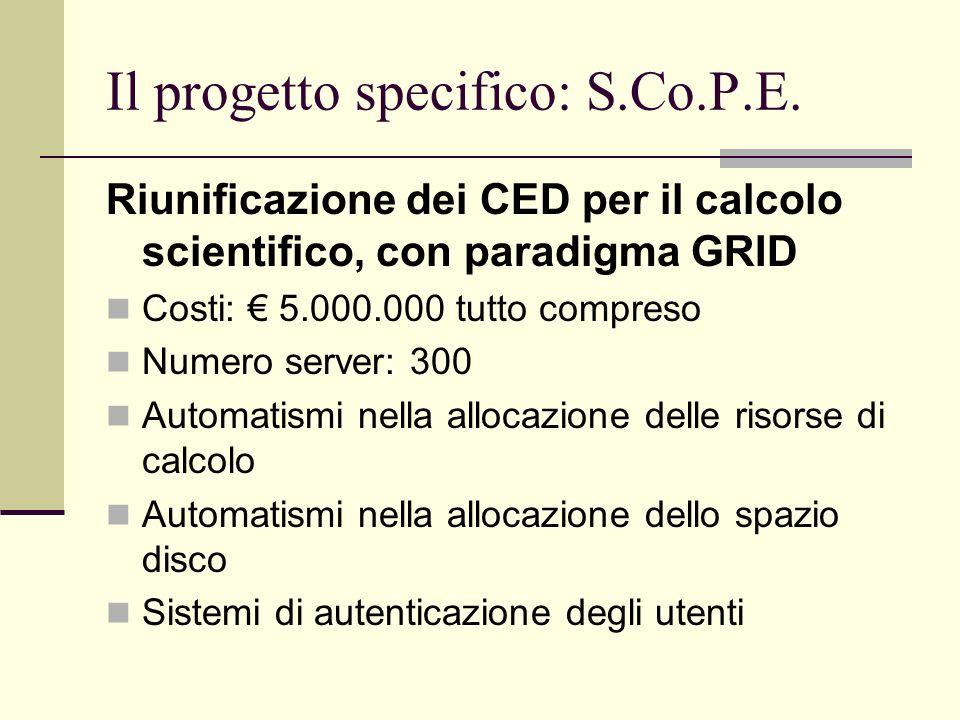 Il progetto specifico: S.Co.P.E.