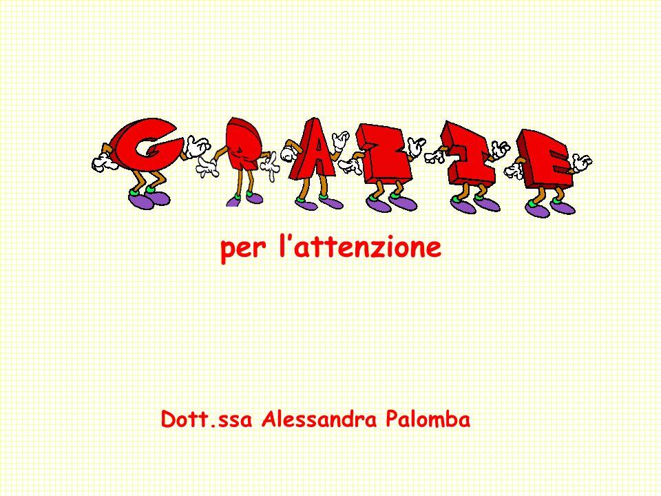 per l'attenzione Dott.ssa Alessandra Palomba