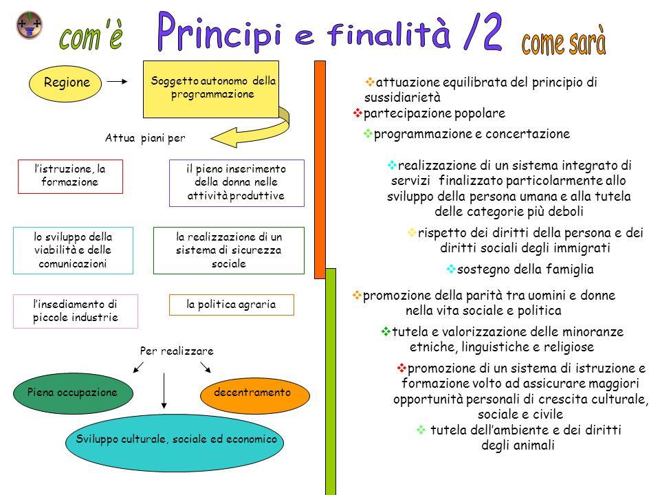Principi e finalità /2 com è come sarà Regione
